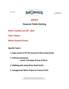 rosenort public meeting notice